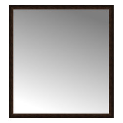 """Posters 2 Prints, LLC - 64"""" x 69"""" Dark Copper Custom Framed Mirror - 64"""" x 69"""" Custom Framed Mirror made by Posters 2 Prints. Standard glass with unrivaled selection of crafted mirror frames.  Protected with category II safety backing to keep glass fragments together should the mirror be accidentally broken.  Safe arrival guaranteed.  Made in the United States of America"""