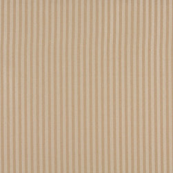 Beige And Tan Two Toned Stripe Upholstery Fabric By The Yard - P3511 is great for residential, and commercial applications. This fabric will exceed at least 35,000 double rubs (15,000 is considered heavy duty), and is easy to clean and maintain.