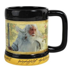 Westland - Lord of The Rings The Wise Gandalf Black and Yellow 15 Oz. Coffee Mug - This gorgeous Lord of The Rings The Wise Gandalf Black and Yellow 15 Oz Coffee Mug has the finest details and highest quality you will find anywhere! Lord of The Rings The Wise Gandalf Black and Yellow 15 Oz Coffee Mug is truly remarkable.