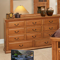 Artisan Home Stone Ridge 11 Drawer Dresser in Nine Step Lacquer Finish