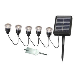 Kenroy - Kenroy 60503 Solar Light String - 5 Light - Solar Spotlights are ideal for illuminating steps, shrubs, flags, address markers, fountains, statuary and other landscape elements outside of your home or business.