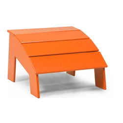 "Loll Designs - 4 Slat Ottoman, Sunset Orange - Comfortable is great, but why not go for that, ""I'm-so-not-moving"" kind of comfort. Mission accomplished when you introduce this angled ottoman to an already inviting Adirondack chair."