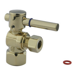 Kingston Brass - Angle Stop with 1/2in. IPS x 3/8in. OD Compression - The 1/4-turn angle stop valve features a sleek cylindrical lever which controls the movement of water through and from plumbing fixtures. The valve is made of solid brass built for durability and dependability and also comes in a variety of finishes to better coordinate your kitchen/bathroom.