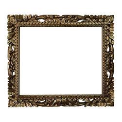 Fancydecor - 20x24 Rectangle gold mid century mirror frame baroque frame - Rectangle Mid Century Gold Mirror frame. 24x20