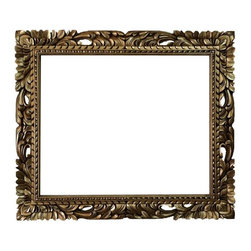 Fancydecor - 20x24 Rectangle gold mid century mirror frame baroque frame - Rectangle Mid Century Gold Mirror frame. 24x20