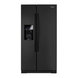 "Whirlpool - WRS537SIAB 36"" 27 cu. ft. Capacity Side-by-Side Refrigerator with FreshFlow Air - Get the most out of your freezer with the In-Door-Ice Plus ice dispensing system It creates 30 more usable space in the freezer and the bin tilts out or can be removed with one hand and placed on the counter to make filling glasses pitchers and coole..."