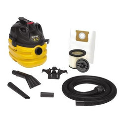 SHOP-VAC CORPORATION - Shop-Vacuum Wet/Dry Vacuum 5-Gallon Heavy Duty 20' Cord - Features: