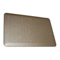 Rhino Anti-Fatigue Mats - Comfort Mats: Rhino Anti-Fatigue Mats Safety Supplies Housewares Navaho Plait - Shop for Flooring at The Home Depot. Our Comfort Craft Housewares Premium line was designed to bring commercial grade comfort to the home. These mats come in 80 different styles and colors to match any existing color schemes in your home. Our Housewares line has set a new standard for high end kitchen matting. The days of crinkled wrinkled and rolled up mats that constantly require straightening and cause trip hazards are over. This mat will stay where you put it exactly like you want. No sliding or wrinkling. Color: Sterling Silver.