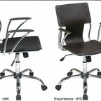 Ave-Six Dorado Swivel Leather Desk Office Chair - The Dorado office chair from Avenue Six features a sleek contemporary design and is available in your choice of white, black, red, or espresso bonded leathers.