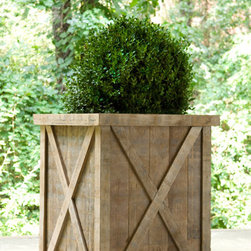 Outdoor Accessories - One size - great weathered wood planter