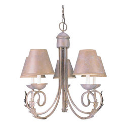 Volume Lighting - Volume Lighting V3285 Rylos 5 Light 1 Tier Chandelier - Five Light 1 Tier Chandelier from the Rylos CollectionSplendid and fashionable, this 5 light chandelier features 1 tier and charming prairie rock fabric shades.Features: