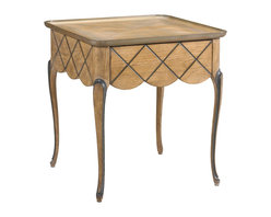 French Heritage - French Heritage Lyon Square End Table - You want your favorite pieces of furniture to look perfect, but realistically, side tables are usually piled high with stuff. So opt for one that has decorative detailing all the way around it like this beautiful square end table.