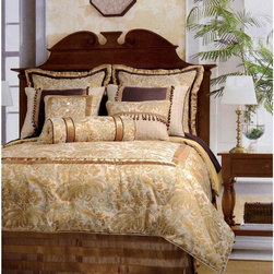 None - Jennifer Taylor St. Lucia 10-piece Comforter Set - With a beautifully elegant pattern design and versatile color,this comforter set is the perfect way to add style and class to your bedroom. Available in several multi-piece sets,this comforter features durable and rich materials.