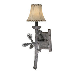 Vaxcel Lighting - Vaxcel Lighting WL65231CP Yellowstone Traditional Wall Sconce - Scenic combinations which bring the great outdoors through the entrance and into your lodge.