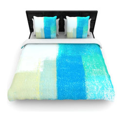 "Kess InHouse - CarolLynn Tice ""Shallow"" Cool Blues Cotton Duvet Cover (Twin, 68"" x 88"") - Rest in comfort among this artistically inclined cotton blend duvet cover. This duvet cover is as light as a feather! You will be sure to be the envy of all of your guests with this aesthetically pleasing duvet. We highly recommend washing this as many times as you like as this material will not fade or lose comfort. Cotton blended, this duvet cover is not only beautiful and artistic but can be used year round with a duvet insert! Add our cotton shams to make your bed complete and looking stylish and artistic!"
