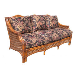 Wicker Paradise - Rattan Sofa - Melbourne - Your guests will love sitting in the Melbourne Rattan Sofa. With its unique style and plush comfort they will be talking about it long after they leave. Well made and distinctive.