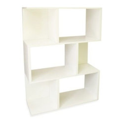 Way Basics - Way Basics Madison Bookshelf in White - This twist on the traditional bookcase is a fun, new way to decorate your home. The Way Basics Madison bookshelf combines function with fresh design, making this home essential look less like a bookcase and more like decor.