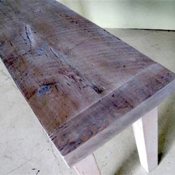 Extra Thick Sofa Table With New Driftwood Finish - Made by http://www.ecustomfinishes.com