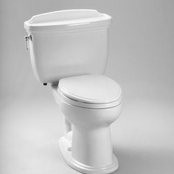 """Toto - Toto CST754EF#01 Cotton Eco Dartmouth Eco Dartmouth Two Piece - 1.28GPF ADA Compliant Two-Piece Elongated Toilet (Less Seat)When it comes to Toto, being just the newest and most advanced product has never been nor needed to be the primary focus. Toto s ideas start with the people, and discovering what they need and want to help them in their daily lives. The days of things being pretty just for pretty s sake are over. When it comes to Toto you will get it all. A beautiful design, with high quality parts, inside and out, that will last longer than you ever expected. Toto is the worldwide leader in plumbing, and although they are known for their Toilets and unique washlets, Toto carries everything from sinks and faucets, to bathroom accessories and urinals with flushometers. So whether it be a replacement toilet seat, a new bath tub or a whole new, higher efficiency money saving toilet, Toto has what you need, at a reasonable price.Traditional design, high profile two piece toilet The Dartmouth Suite: Matching toilet and lavatories Universal height for maximum comfort E-Max Flushing System (1.28GPF / 4.8 LPF) Upgrade with a Traditional SoftClose seat or a Washlet. Fast Flush: Wide 3"""" flush valve is 125% larger than conventional 2"""" flush valves. ADA Compliant Large water surface Five Year Limited Warranty"""