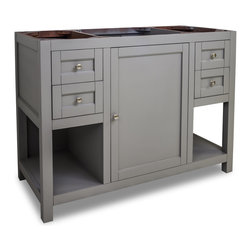 Hardware Resources - VAN103-48 Jeffrey Alexander Vanity in Grey - Jeffrey Alexander Vanity by Hardware Resources