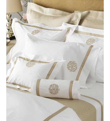 Contemporary Bedding by Monogrammed Heirlooms