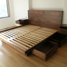 Contemporary Platform Beds by Akroyd Furniture