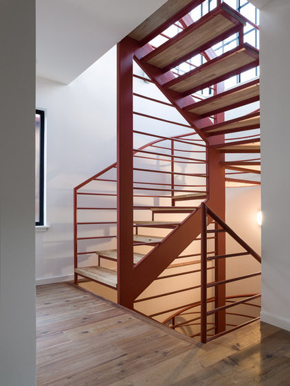 Modern Staircase by Robert Nebolon Architects