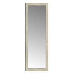 """Posters 2 Prints, LLC - 14"""" x 40"""" Libretto Antique Silver Custom Framed Mirror - 14"""" x 40"""" Custom Framed Mirror made by Posters 2 Prints. Standard glass with unrivaled selection of crafted mirror frames.  Protected with category II safety backing to keep glass fragments together should the mirror be accidentally broken.  Safe arrival guaranteed.  Made in the United States of America"""