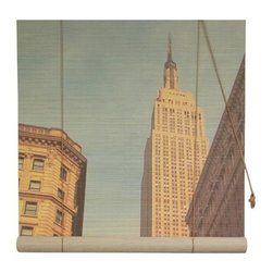 Oriental Unlimited - Empire State Building Bamboo Blinds (48 in.) - Choose Size: 48 in.Artistic with an architectural look, this innovative bamboo roll-up blind will be a stunning addition to your home's decor. Featuring a bold vertical view of the Empire State Building, the blind is available in your choice of size options and is made of environmentally friendly matchstick bamboo. Feature a lovely view of New York's Empire State Building. Easy to hang and operate. 24 in. W x 72 in. H. 36 in. W x 72 in. H. 48 in. W x 72 in. H. 60 in. W x 72 in. H. 72 in. W x 72 in. H