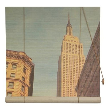 Oriental Unlimted - Empire State Building Bamboo Blinds (48 in.) - Choose Size: 48 in.Artistic with an architectural look, this innovative bamboo roll-up blind will be a stunning addition to your home's decor. Featuring a bold vertical view of the Empire State Building, the blind is available in your choice of size options and is made of environmentally friendly matchstick bamboo. Feature a lovely view of New York's Empire State Building. Easy to hang and operate. 24 in. W x 72 in. H. 36 in. W x 72 in. H. 48 in. W x 72 in. H. 60 in. W x 72 in. H. 72 in. W x 72 in. H