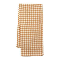 Origin Crafts - Khadhi cotton tea towels (gingham check ivory), set of 2 - Khadhi Cotton Tea Towels (Gingham Check Ivory), Set of 2 The Khadhi collection of refined linens embodies a nostalgic vintage French style. Because Khadi cotton fabric is entirely handmade ? from the spinning to weaving stage, it has a natural, earthy look and feeling. At the same time, it?s understatedly chic and these Khadhi tablecloths, napkins and handkerchiefs are perfect for outdoor dining, complementing a rustic breakfast table or contrasting and softening a modern dining room setting. A Caravan exclusive. Each 100% cotton tea towel is entirely handmade and yarn dyed for a natural texture. Easy care and practical: machine washable, ironing is optional. Dimensions (in):20x30 By Couleur Nature - Couleur Nature is a wholesaler of fine, French-inspired Indian woodblock-printed and vintage linens. Couleur Nature?s linens and home accessories are versatile and can be used for formal or casual table settings year-round, as well as the every day. Their distinct but wide appeal makes them ideal for almost any occasion, decor or personal style. Usually ships in three business days. Our linens are handmade: slight variations are natural and make each piece unique.