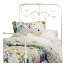 Hillsdale - Hillsdale Lindsey Metal Headboard in White-Twin - Hillsdale - Headboards - 27734 - Reminiscent of a traditional Victorian wrought-iron bed the Lindsey possesses delightful decorative artistry that makes it perfect for a little girl's first bed. With a cameo motif and other charming metalwork accents the lines of this beautiful bed are enhanced by a fresh white finish.