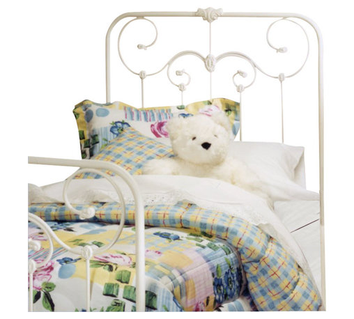 Hillsdale - Hillsdale Lindsey Metal Headboard in White-Queen - Hillsdale - Headboards - 27751 - Reminiscent of a traditional Victorian wrought-iron bed the Lindsey possesses delightful decorative artistry that makes it perfect for a little girl's first bed. With a cameo motif and other charming metalwork accents the lines of this beautiful bed are enhanced by a fresh white finish.