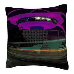 Custom Photo Factory - Los Angeles airport control tower and buildings   Polyester Velour Throw Pillow - Los Angeles airport control tower and buildings  18 x 18 Inches  Made in Los Angeles, CA, Set includes: One (1) pillow. Pattern: Full color dye sublimation art print. Cover closure: Concealed zipper. Cover materials: 100-percent polyester velour. Fill materials: Non-allergenic 100-percent polyester. Pillow shape: Square. Dimensions: 18.45 inches wide x 18.45 inches long. Care instructions: Machine washable
