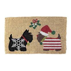 Scotties Holiday Coir Doormat Honestly This Scottie Dog
