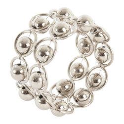 Saro - Link Napkin Ring, Silver SET/4 - Link Napkin Ring, Silver SET/4