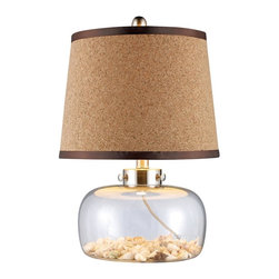 Dimond Lighting - D1981-LED Margate Table Lamp, Antique Mercury Glass - Transitional Table Lamp with Antique Mercury Glass glass from the Margate Collection by Dimond Lighting.