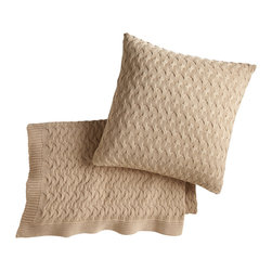 Peacock Alley - Majorca Throw, Gold - Like a sweater for your sofa, this 100 percent Egyptian cotton throw was made for snuggling, and snoozing — not to mention great style. You'll cozy up to the texture of its weave and the soothing neutral shade.