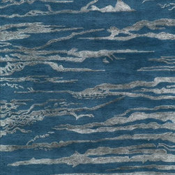 Momeni - Momeni Zen Zen-2 (Cobalt) 5' x 8' Rug - Inspired by all things tranquil Zen is an elegant collection of hand-tufted rugs, with rich bamboo silk highlights enhancing their quiet appeal and making a graceful addition to any decor. 100% wool