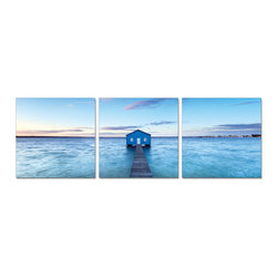 Elementem Photography - Blue House Pier Print - Mounting Instructions: