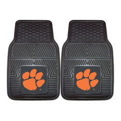 Fanmats - Fanmats Clemson 2-piece Vinyl Car Mats - Protect your vehicle while supporting your favorite team. These two 100-percent vinyl car mats are molded and ridged to catch dirt and made of the highest- quality material for longevity. They are adorned with your beloved Clemson logo.