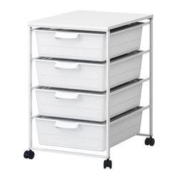 IKEA of Sweden/K Hagberg/M Hagberg - ANTONIUS Frame, drawer and desk top - Frame, drawer and desk top, white