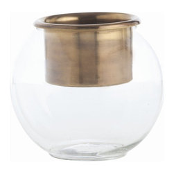 Arteriors - Arteriors Home - Ringo Candleholder / Vase - 6587 - Arteriors Home - Ringo Candleholder / Vase - 6587 Features: Ringo Collection VaseGlass FinishGlass and Stainless Steel Material Some Assembly Required.