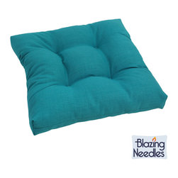 Blazing Needles - Blazing Needles 19-inch Outdoor Spun Poly Chair/ Rocker Cushion - Add a touch of comfort and style to outdoor furnishings with the Blazing Needles Outdoor Spun Poly Chair/Rocker Cushion. Four beautiful variations of 100-percent spun polyester fabric are available.