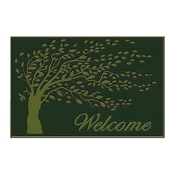 "A1 Home Collections - ""Shredding Tree"" LIMITED EDITION Rubber Doormat - This stylish doormat makes a perfect addition to any porch,patio area or door. Use this mat to catch dirt or as decoration."