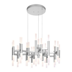 Sonneman Lighting - Sonneman Lighting 2238.16 Sonata 24-Arm LED Pendant Light - Sonneman Lighting 2238.16 Sonata 24-Arm Led Pendant Light In Bright Satin Aluminum