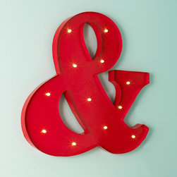 Lighted Ampersand Sign -