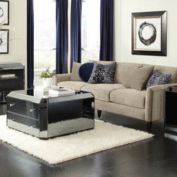 Standard Furniture - Standard Furniture Mirage 3 Piece Mirrored Coffee Table Set - Modern and glamorous  Mirage Tables have a contemporary sophistication that reflects todayâs modern lifestyle.