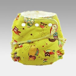 Kissaluvs One Size Fitted Cloth Diapers - 3 Pack Two Hoots