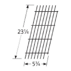 """Music City Metals - Porcelain Steel Wire Cooking Grid, Viking, 23.25"""" x 5.75"""" - Porcelain steel wire cooking grid, 23.25"""" x 5.75""""; Viking VGBQ 30"""" T series, Viking VGBQ 41"""" T series, Viking VGBQ 53"""" T series. Replacement part for propane gas BBP and barbeque grills."""